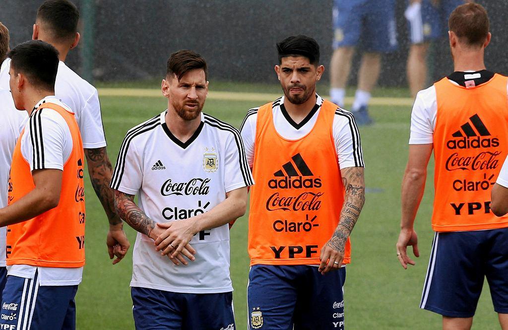 Leo Messi na treningu reprezentacji Argentyny