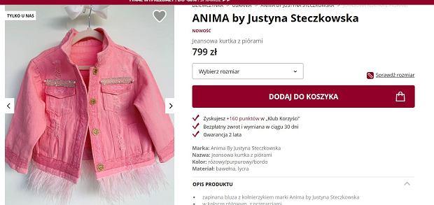 Jeansowa kurtka dla dziewczynki od Justyny Steczkowskiej