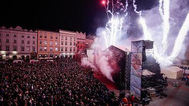 14.01.2018, Kraków, światełko do nieba podczas 26. Finału Wielkiej Orkiestry Świątecznej Pomocy