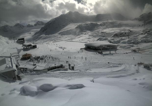 narty na lodowcu