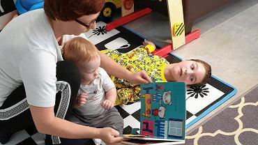 Mateusz, którym opiekuje się Wrocławskie Hospicjum dla Dzieci. Nie może mówić, więc z otoczeniem komunikuje się dzięki tzw. cyber eye