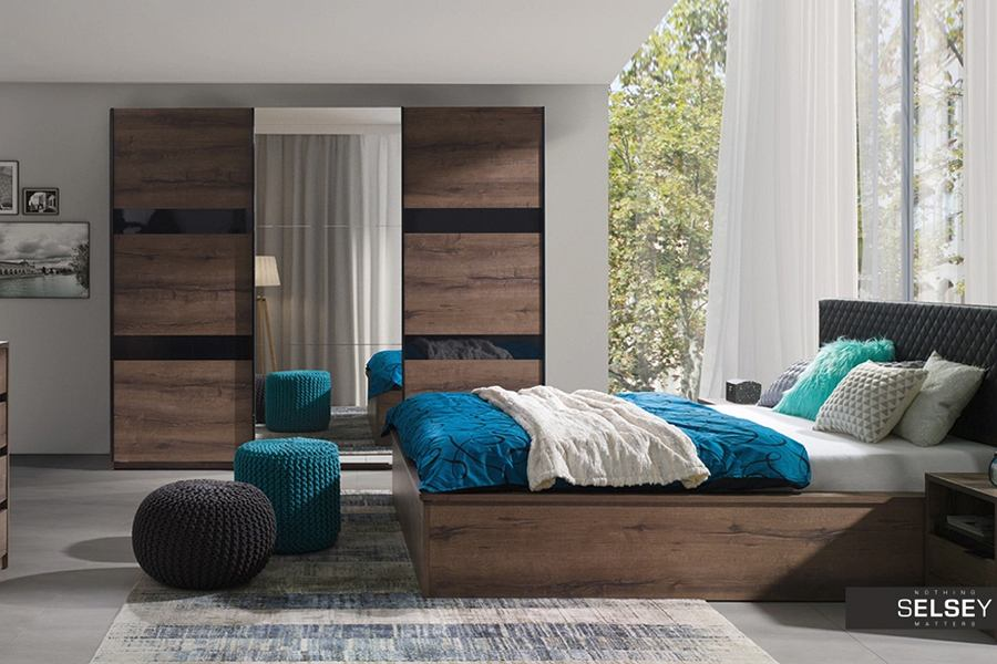 Łóżko do sypialni - przykładowa aranżacja