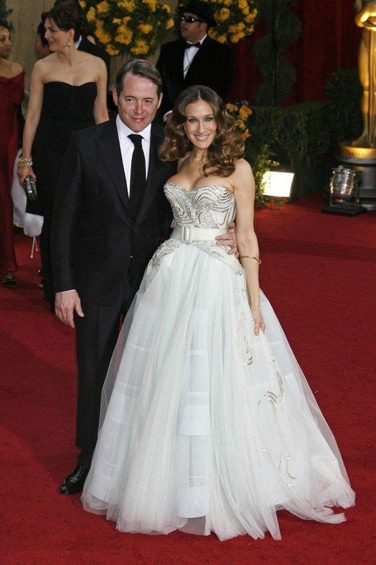 Arrivals at the 81st Annual Academy Awards, held at Kodak Theatre, Hollywood, California.  Pictured: Matthew Broderick and Sarah Jessica Parker   Ref: SPL82526  220209   Picture by: Russ Einhorn / Splash News     World Rights