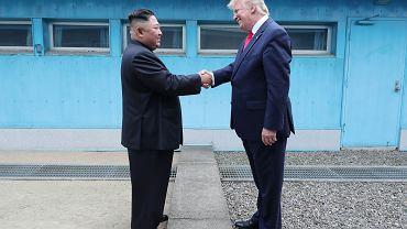 Kim Dżong Un i Donald Trump na granicy dwóch Korei, 30 czerwca 2019