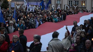 Protest w obronie Sądu Najwyższego w Warszawie