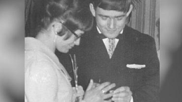 Ślub Aleksandry i Leszka Millerów - rok 1969