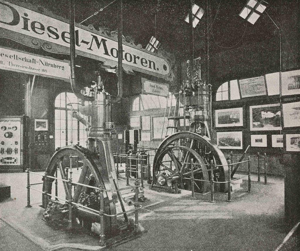 Silnik Rudolfa Diesla, 1912 r.