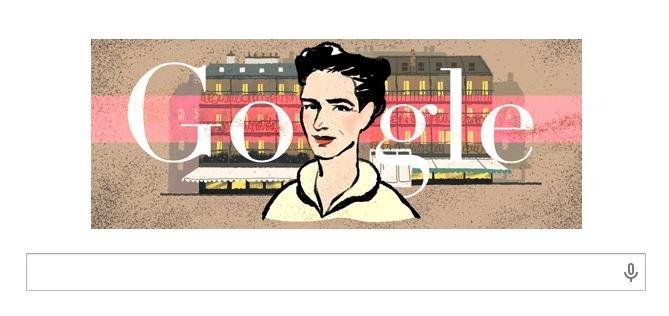 Simone de Beauvoir w Google doodle