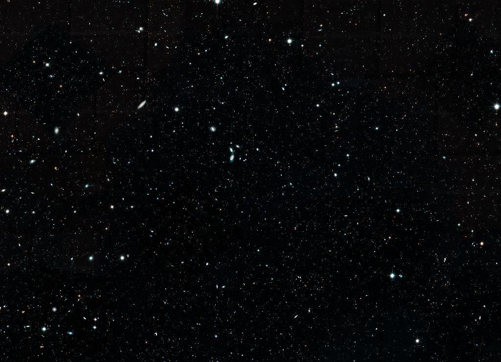 Kadrowane zdjęcie Hubble Legacy Field