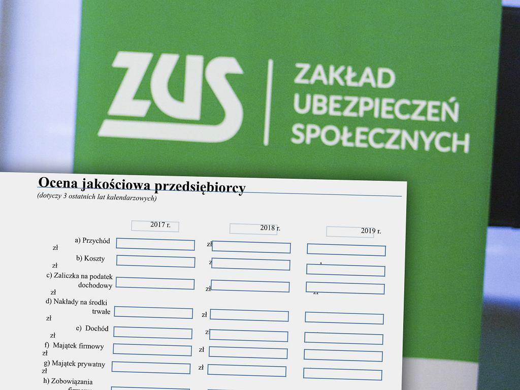 Przedsiębiorcy wnioskujący o zawieszenie składek ZUS muszą wypełnić szczegółowy formularz