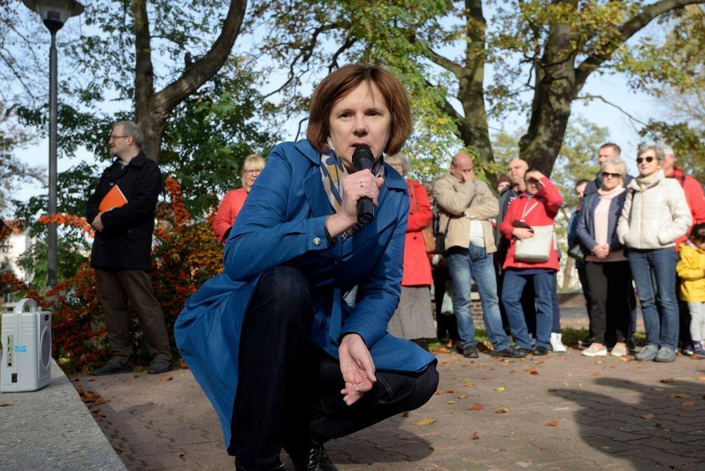Agnieszka Krygier-Łączkowska w czasie Spaceru z Historią