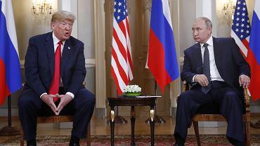 Spotkanie Trump - Putin w Helsinkach, 16 lipca 2018.