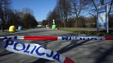 Częstochowa, 1 kwietnia 2020 r. Zamknięty Park Lisiniec w związku epidemią koronawirusa