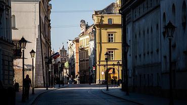Pandemia koronawirusa. Opustoszały Kraków, 24 marca 2020