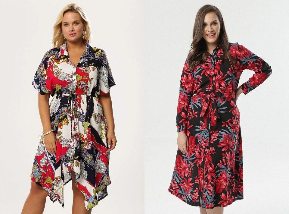 Koszulowe sukienki w wersji plus size