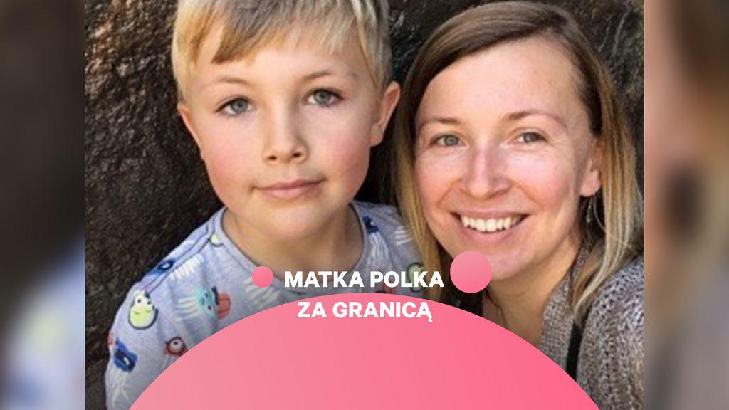 Beata Clark z synem, archiwum prywatne