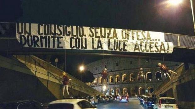 Serie A. Skandal we Włoszech. Pod Koloseum powieszono kukły z nazwiskami piłkarzy Romy