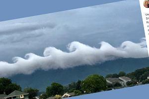 Mieszkanka Wirginii uchwyciła niezwykłe zjawisko na niebie. Chmury wyglądają jak fale z obrazu van Gogha