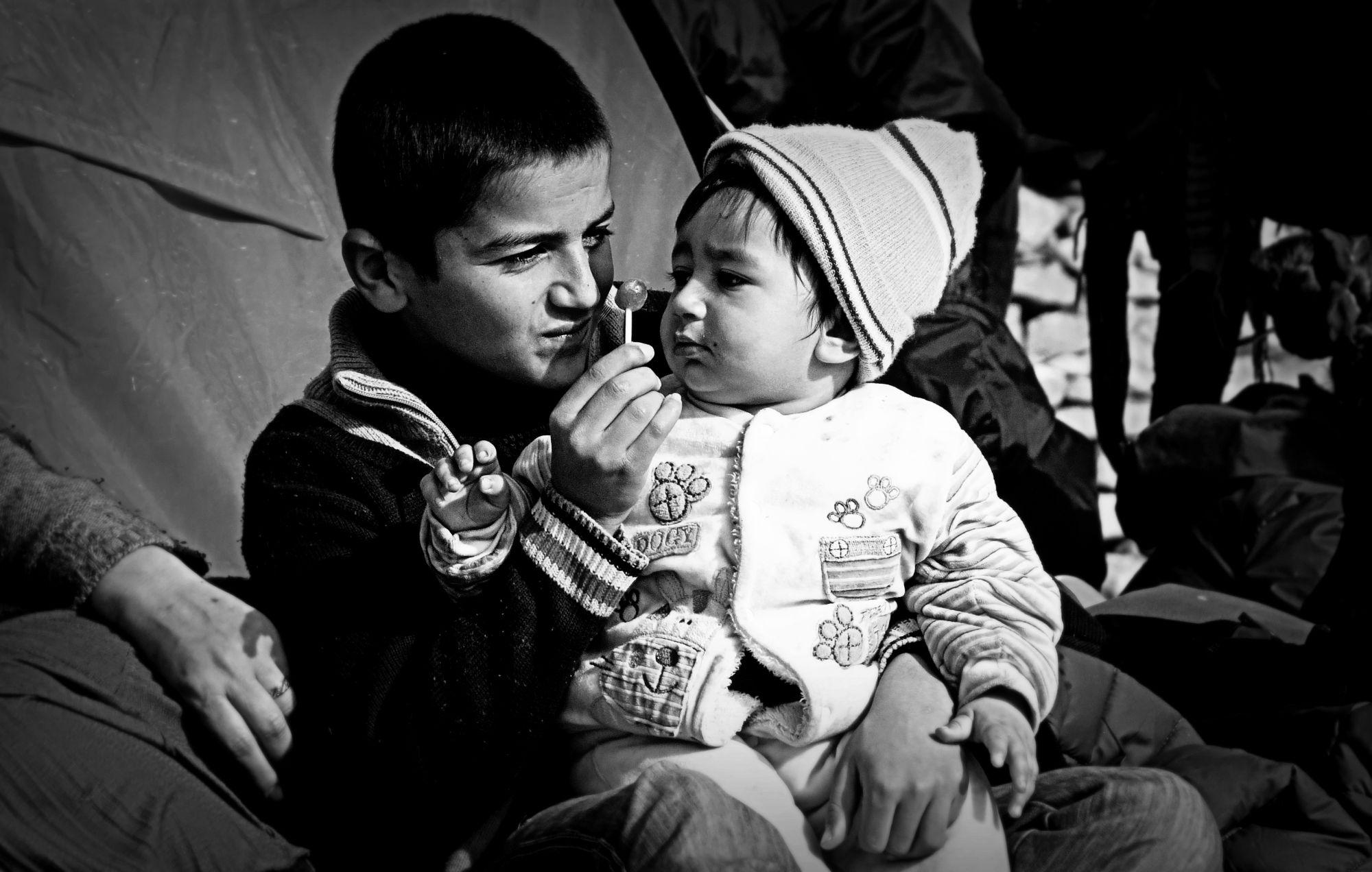 Dzieci w obozie Moria na Lesbos (fot. Archiwum prywatne Aleksandry K. Wiśniewskiej)
