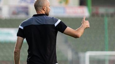 Artur Berdin, były trener GKS-u Bełchatów (w latach 2018-2020). Zdjęcie z postu pożegnalnego. Źródło: Facebook