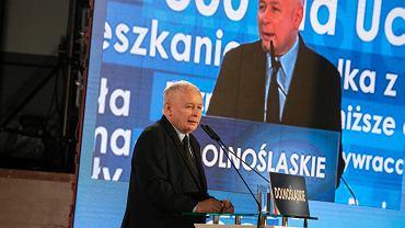 Konwencja PiS we Wrocławiu. Jarosław Kaczyński