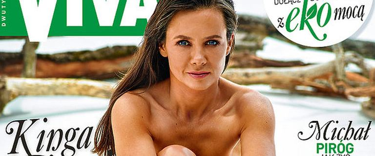 """Naga Kinga Rusin na okładce magazynu. Fani są zachwyceni. """"Kobiety górą"""""""