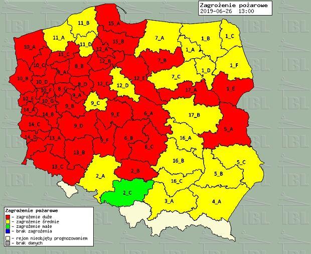 Mapa zagrożenia pożarowego