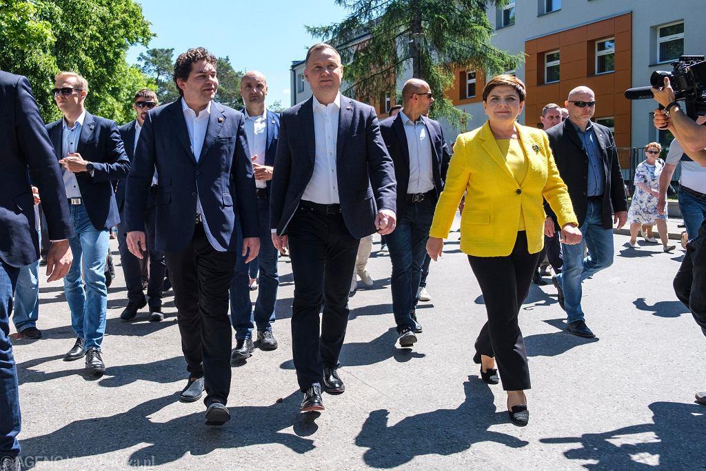 Wybory prezydenckie 2020. W sobotę przed południem w Stalowej Woli Andrzej Duda oficjalnie zainaugurował swoja druga w tym roku kampanię wyborczą