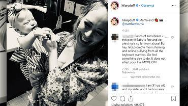Hilary Duff przekuła swojej ośmiomiesięcznej córce uszy.