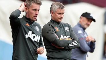 Trener Manchesteru United Ole Gunnar Solskjaer (z prawej)