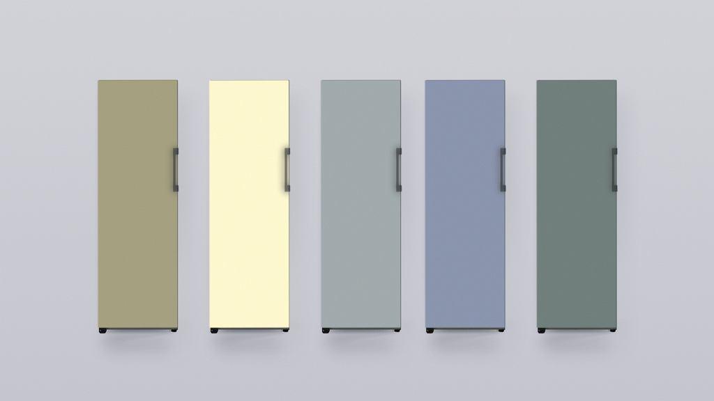 Pięć kolorów paneli Bespoke opracowanych przez markę HAY.