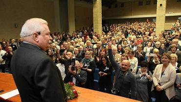 Lech Wałęsa na spotkaniu w Szczecinie