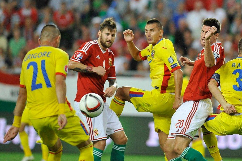Tamas Kadar w meczu z Rumunią