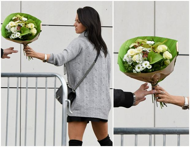 Zdjęcie numer 6 w galerii - Anna Lewandowska z romantycznym prezentem od męża. W tak krótkiej spódnicy jeszcze jej nie widzieliśmy. No i TE buty. Inspirowała się siostrami Kardashian?