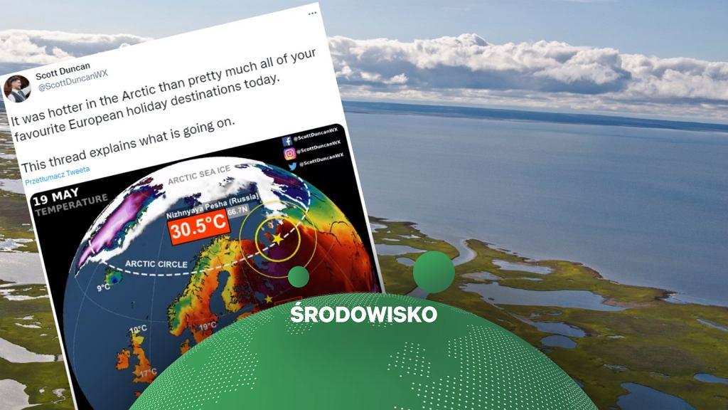Przez rosyjską Arktykę przetacza się fala upałów.