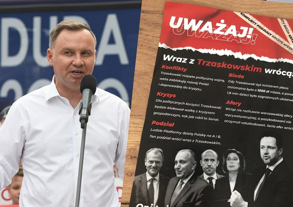 Poczta dystrybuuje ulotki komitetu Andrzeja Dudy