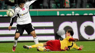 Guilherme podczas meczu Legia - Korona