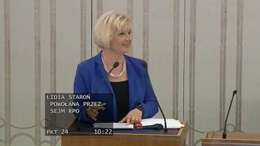 Dyskusja w senacie nad kandydaturą Lidii Staroń