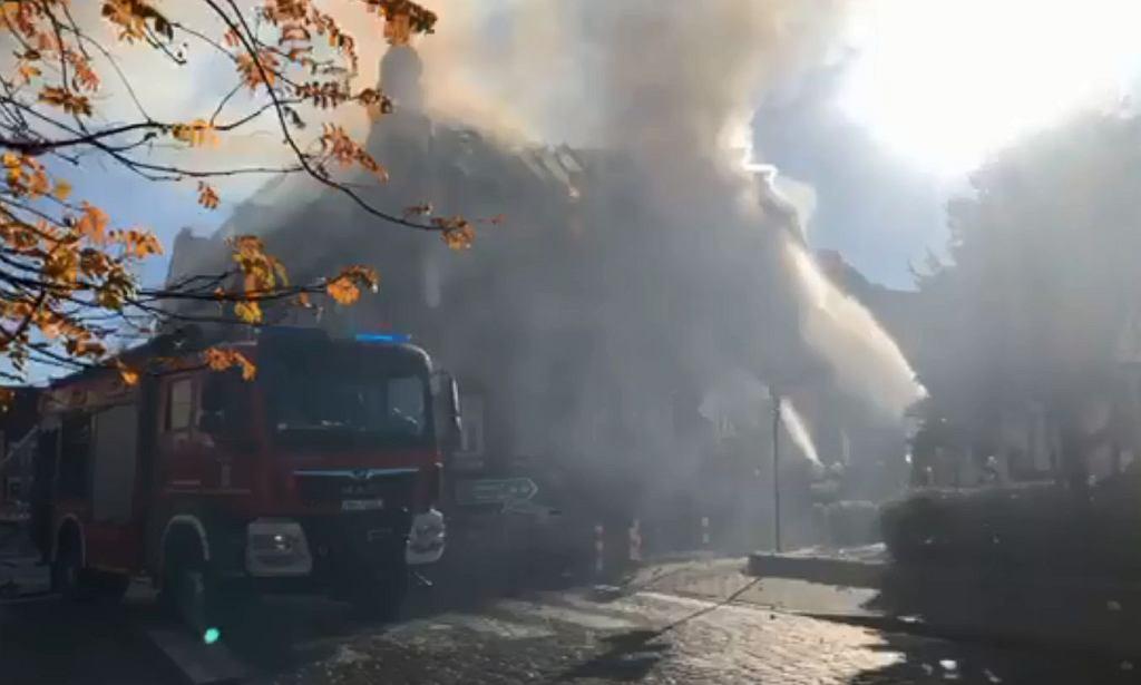 Pożar kamienicy w Mieszkowicach