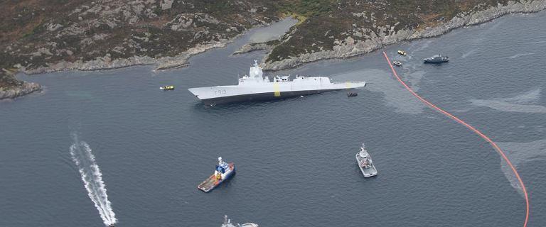 Dramatyczna walka Norwegów o fregatę. Staranował ją znacznie większy tankowiec
