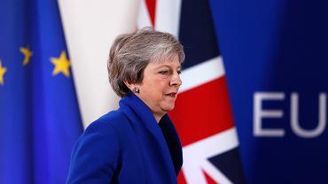 Premier Wielkiej Brytanii Theresa May podczas szczytu UE dot. brexitu. Bruksela, 25 listopada 2018
