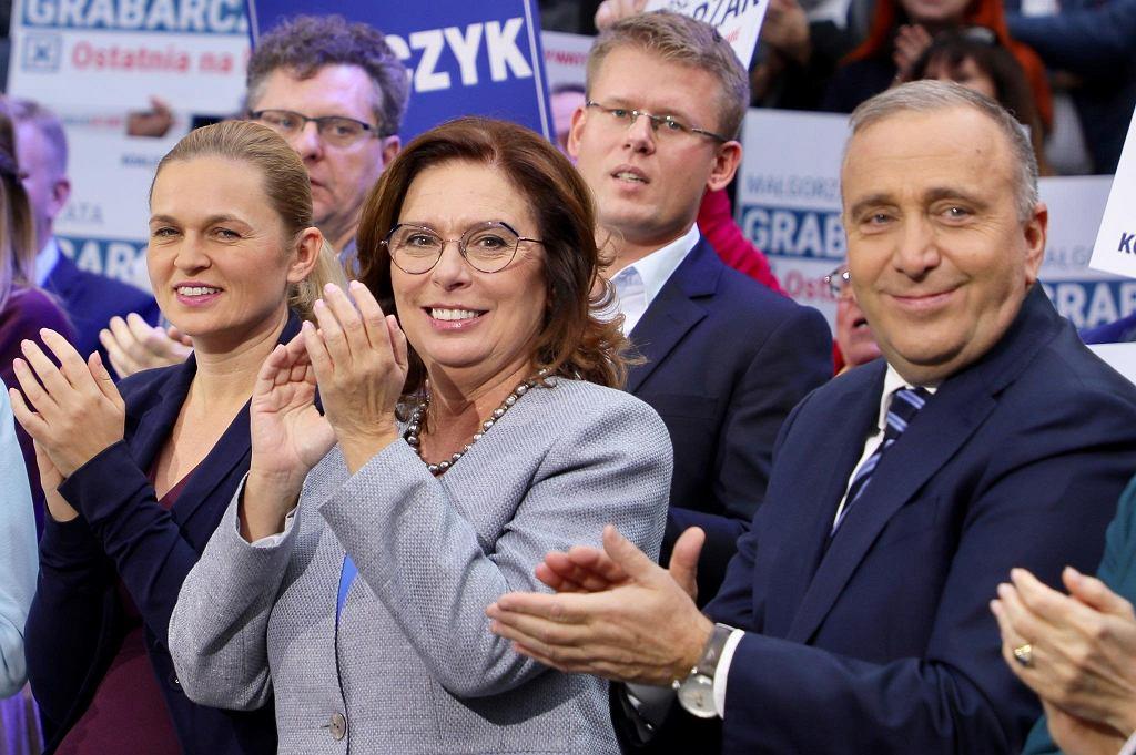 Małgorzata Kidawa-Błońska na ostatniej konwencji przed wyborami