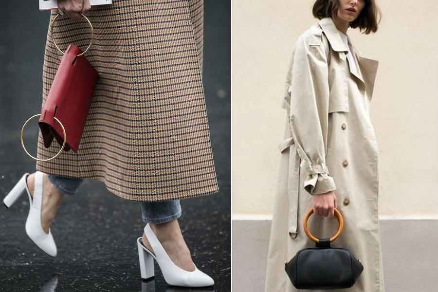Torebka z uchwytem w kształcie koła to ulubiony model redaktorek mody na całym świecie