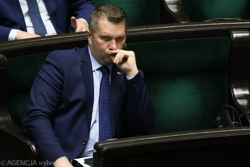 Poseł Przemysław Czarnek w Sejmie. Warszawa, 2 czerwca 2020