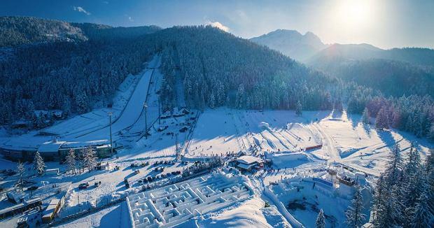 Największy na świecie śnieżny labirynt pod Wielką Krokwią w Zakopanem ponownie otwarty