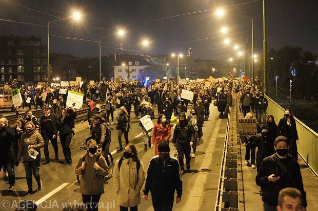 Tłumy na ulicach Poznania