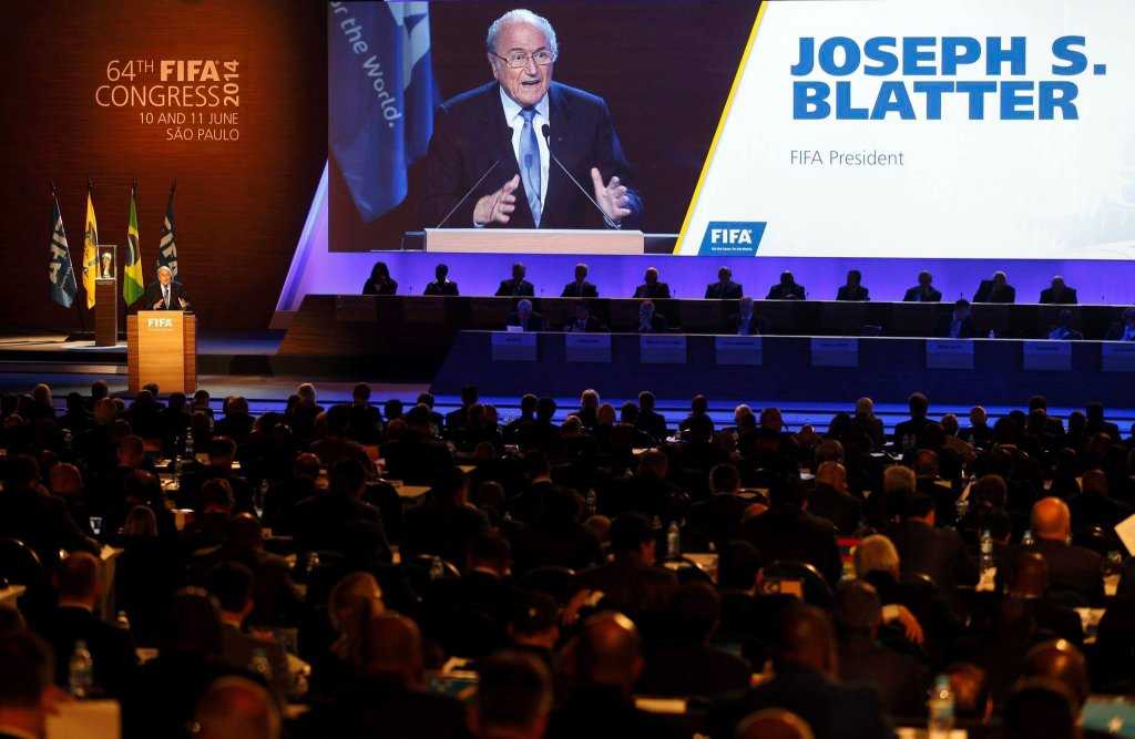 Sepp Blatter podczas kongresu FIFA
