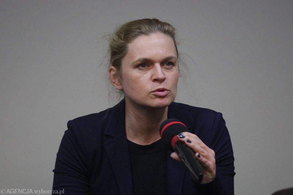 Kielce, 25 stycznia, Barbara Nowacka podczas spotkania stowarzyszenia Incjatywa Polska