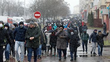 Protesty po sfałszowanych przez Łukaszenkę wyborach prezydenckich.  Mińsk, 29 listopada 2020