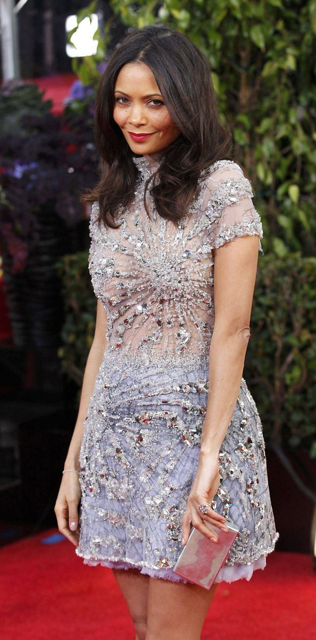 Actress Thandie Newton arrives at the 70th annual Golden Globe Awards in Beverly Hills, California, January 13, 2013.  REUTERS/Mario Anzuoni (UNITED STATES  - Tags: ENTERTAINMENT)  (GOLDENGLOBES-ARRIVALS)